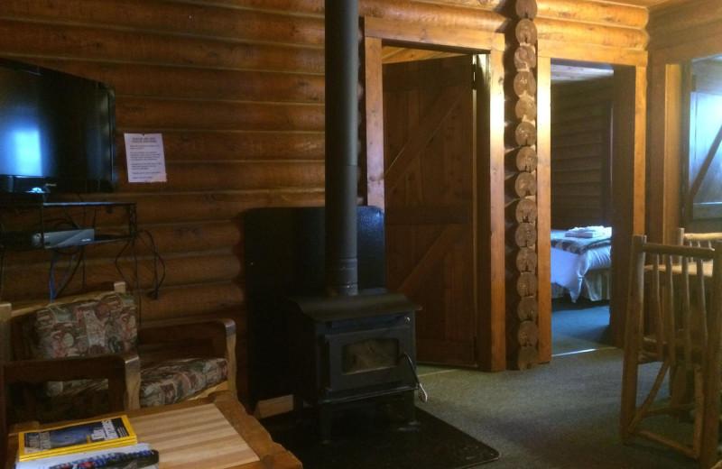 Cabin living room at Bakers Narrows Lodge.