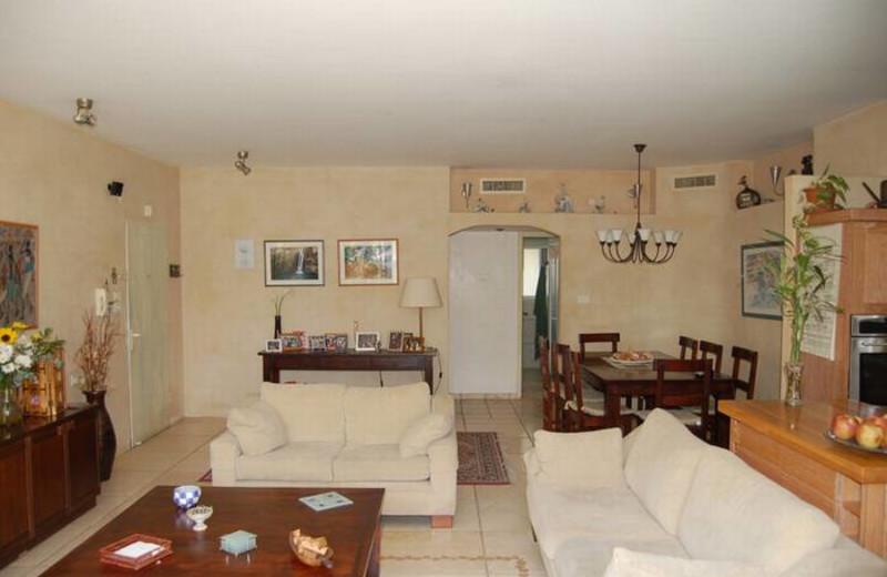 Guest room at David Gaffan Holiday Apartments.