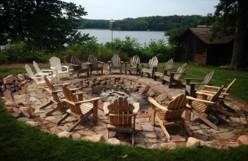 Fire pit at Stout's Island Lodge.