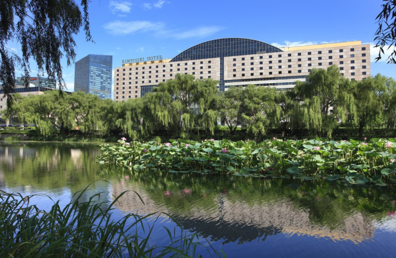 Exterior view of Kempinski Hotel Beijing Lufthansa Center.