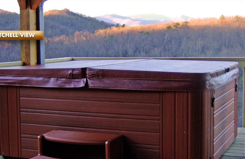 Rental hot tub at High Rock Rentals.
