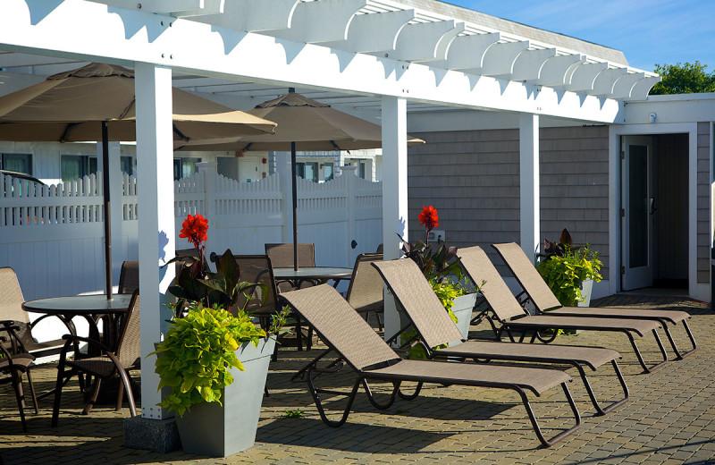 Beach chairs at Anchorage Inn.