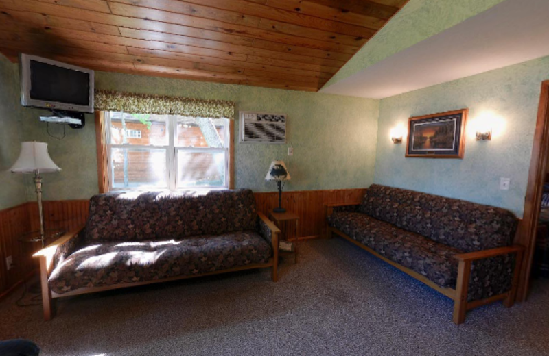 Cabin Living Room at Janetski's Big Chetac Resort