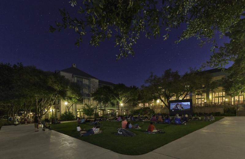 Movies under the stars at Hyatt Regency Hill Country Resort and Spa.