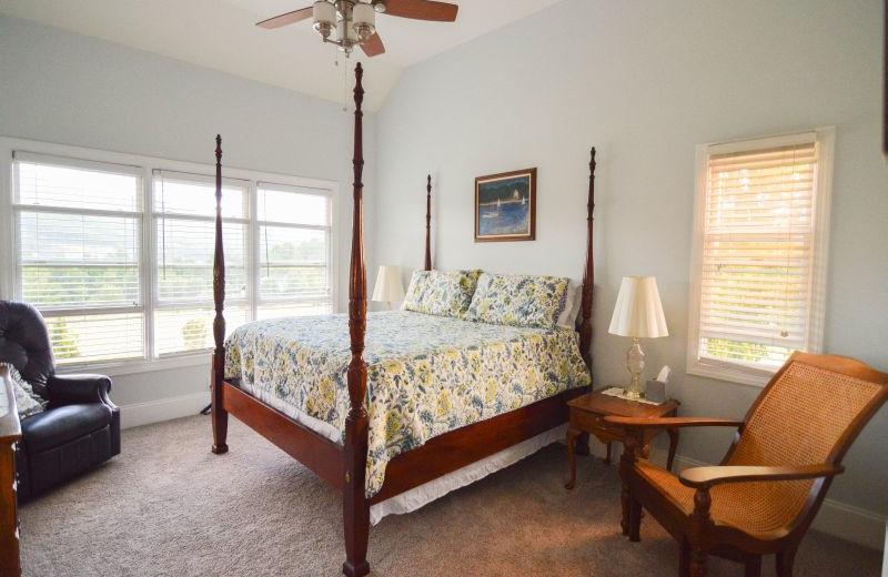 Rental bedroom at Little Bear Rentals.