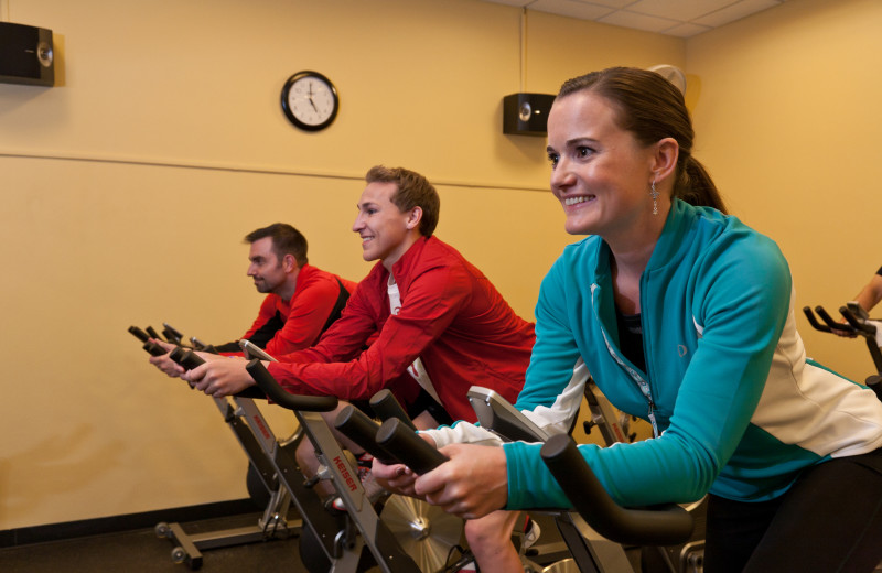 Free spin class at Cheyenne Mountain Resort.