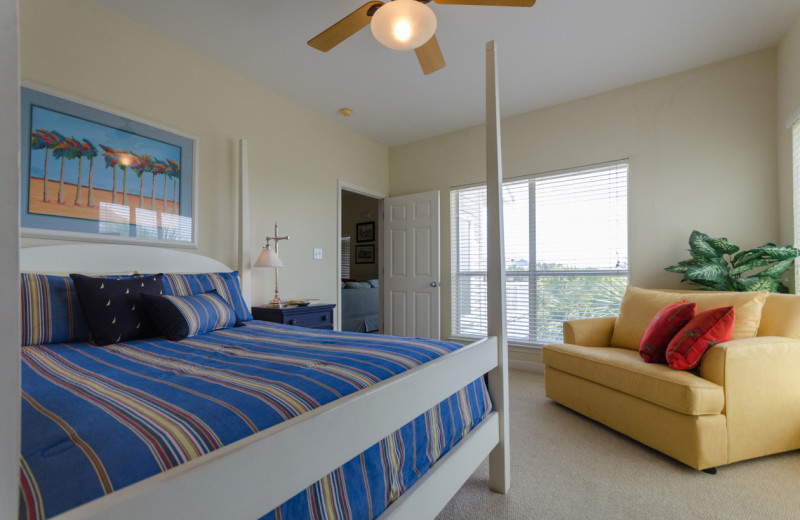 Rental bedroom at Vacation Homes Perdido Key.