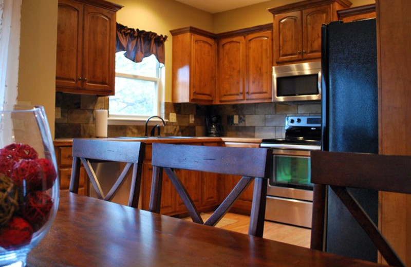 Rental kitchen at Vacation Home in Branson.