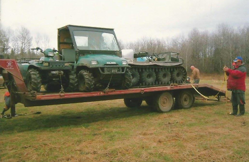 Vehicles at Dahl Creek Outfitters.