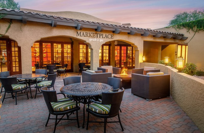 Patio at Holiday Inn Club Vacations Scottsdale Resort.