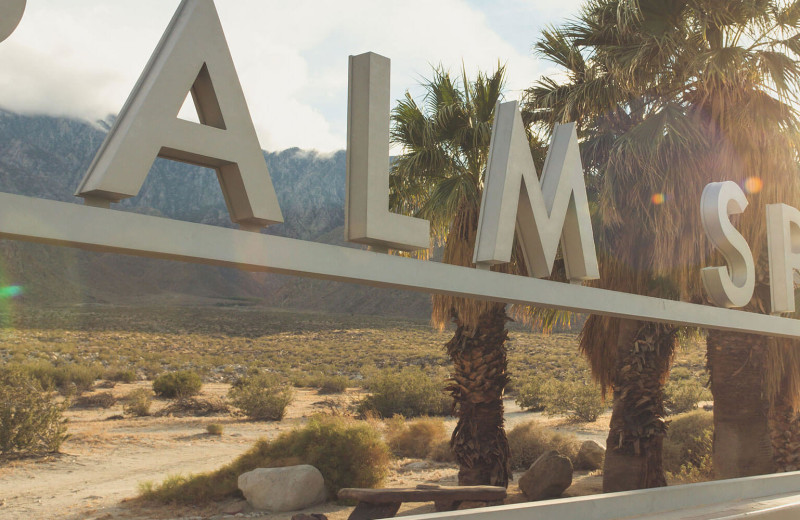 Palm Springs sign at Altez Vacations - Palm Springs.