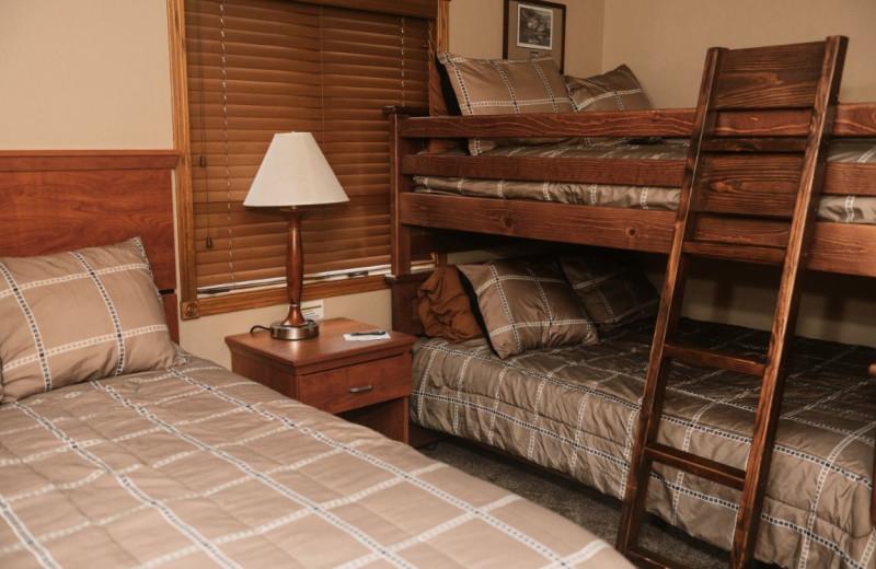 Cottage bedroom at Granite Springs Lodge.