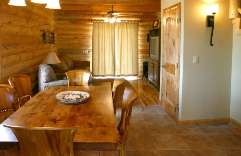 Dining area at Zion Mountain Ranch.