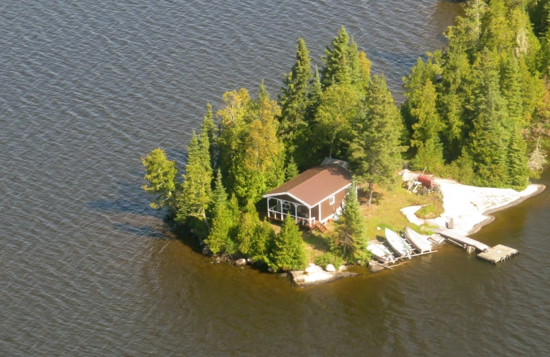 Aerial view of Clark's Resorts & Outposts.