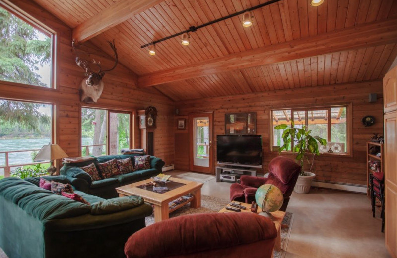 Living room at Alaskan Fishing Adventures.