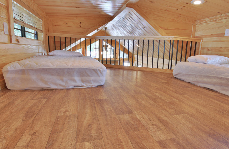 Cabin loft at Yogi Bear's Jellystone Park™ Guadalupe River.