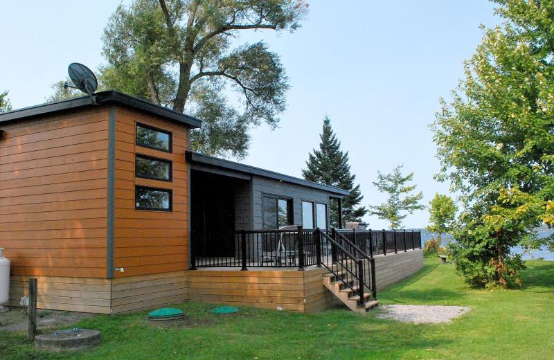 Cottage exterior at Golden Beach Resort.