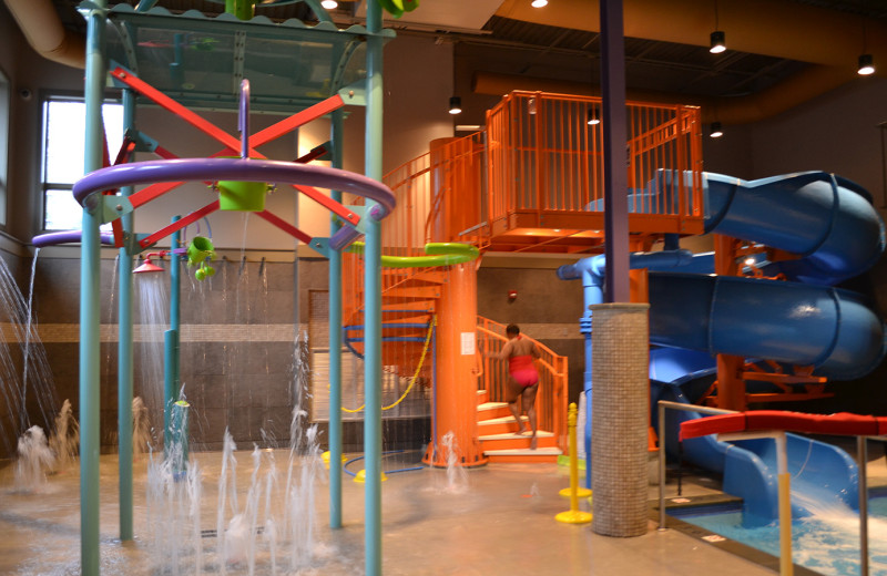 Indoor waterpark at Woodloch Resort.