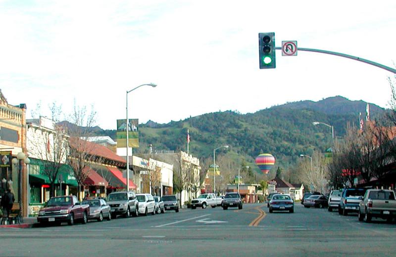 Town near Aurora Park Cottages.