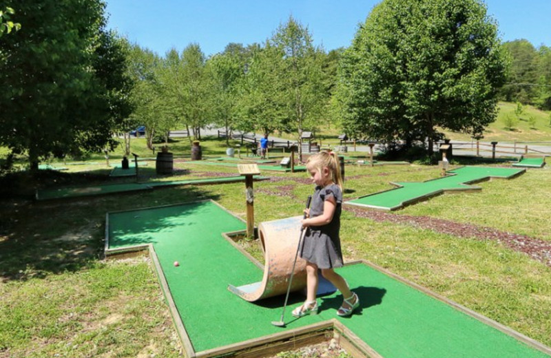Mini golf at Little Valley Mountain Resort.