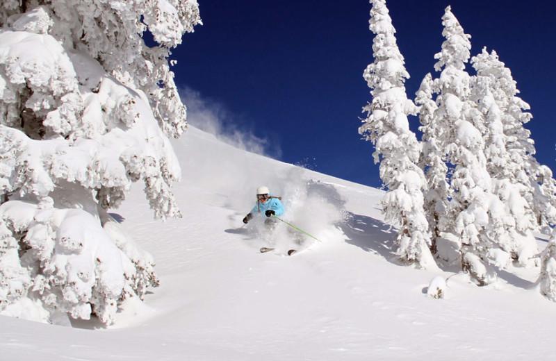 Skiing at Fireside Resort at Jackson Hole.