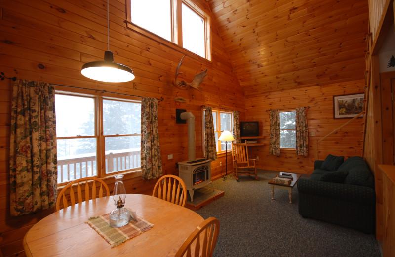 Cabin interior at Cabins at Lopstick.