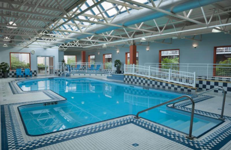 Indoor pool at Delta Halifax.
