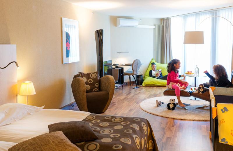 Guest room at Hotel Allegro Bern.