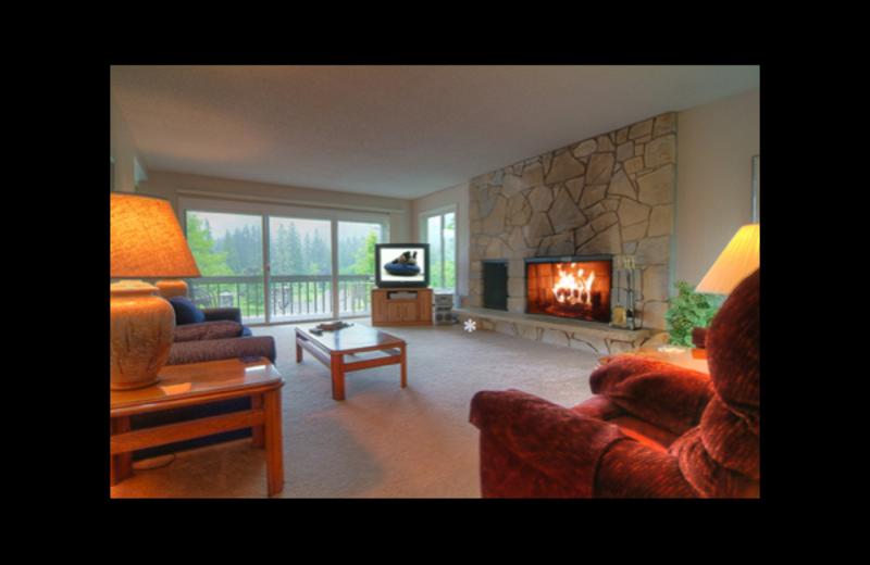 Condo living room at Mt. Hood Resort Condominiums.