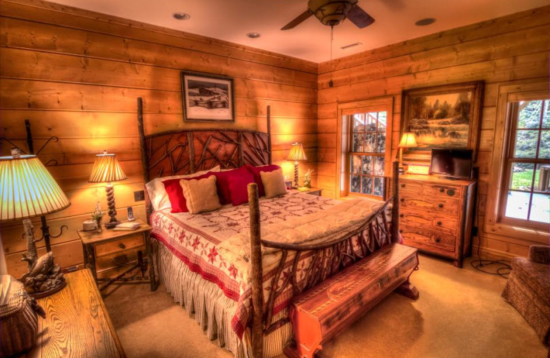 Guest room at The Lodge at River Run.
