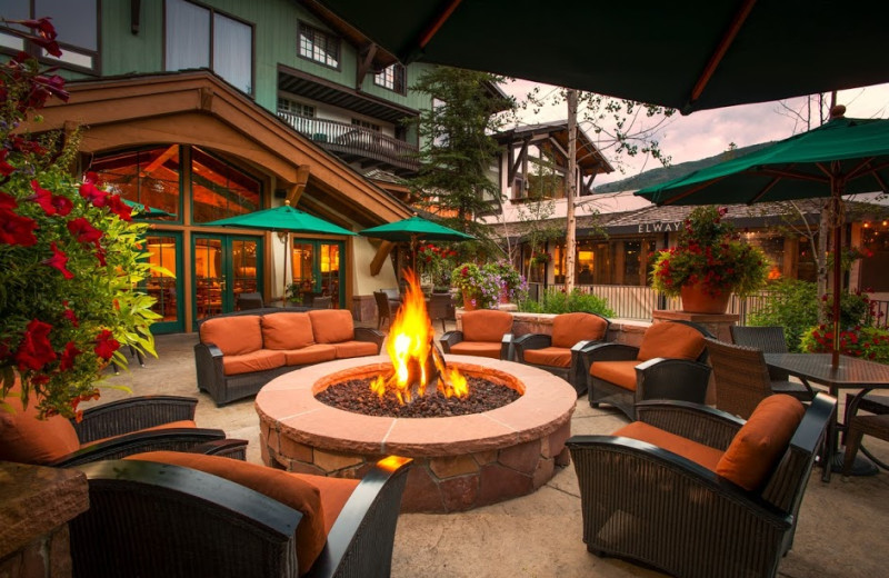 Patio fire pit at The Lodge At Vail.