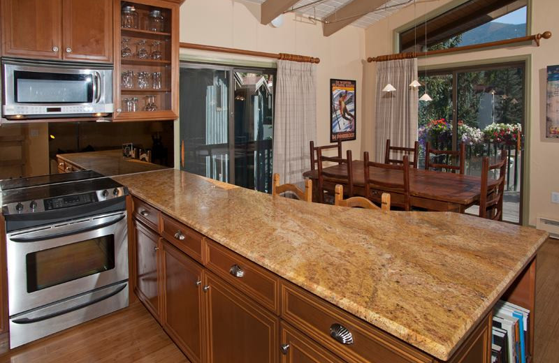 Vacation rental kitchen at Vail Racquet Club.