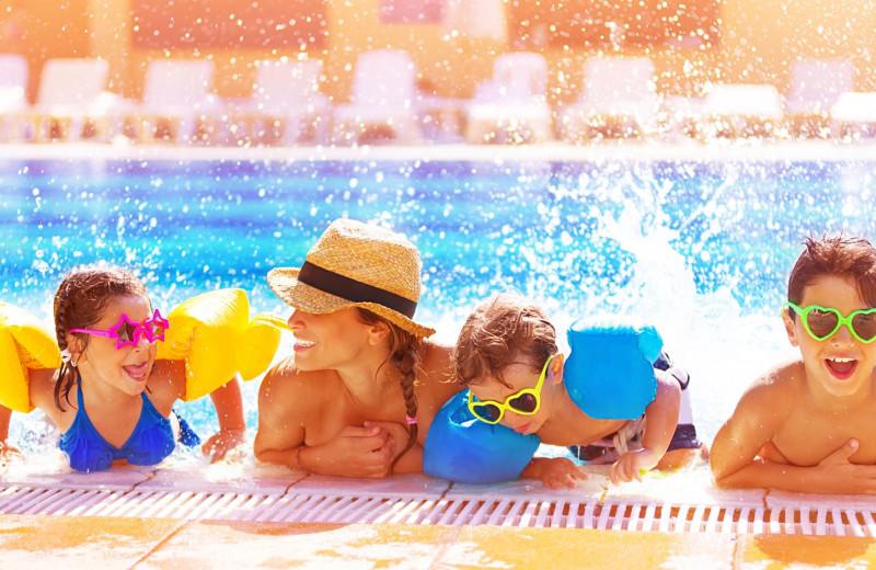 Family in pool at Boar's Head Resort.