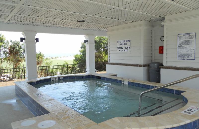Hot tub at Ocean Point 18.