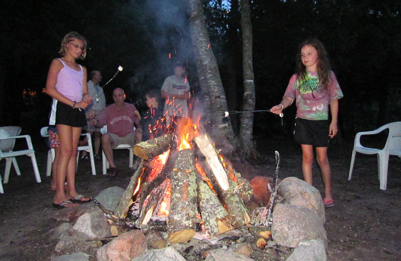 Roasting Marshmallows at North Star Lake Resort