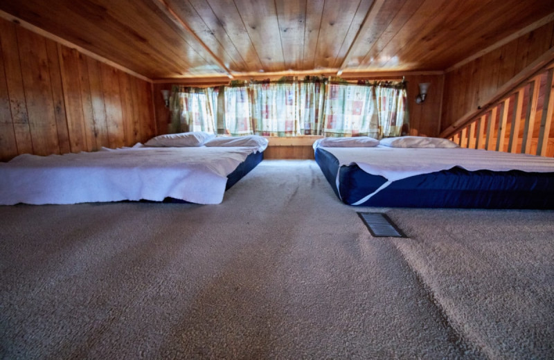 Cabin loft at Lone Star Jellystone.