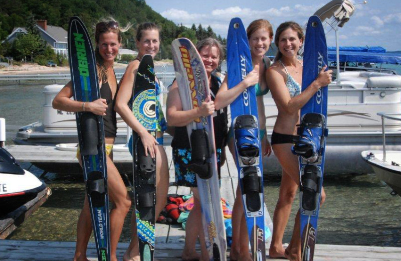 Water skiing at Chimney Corners Resort.