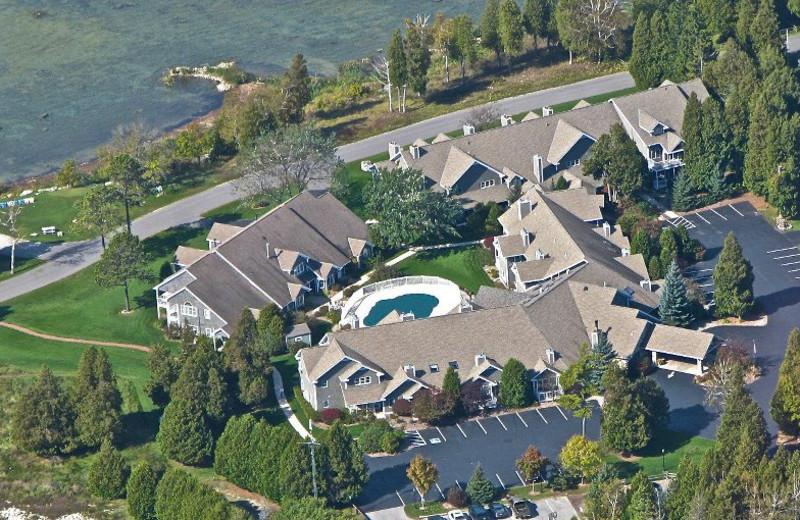 Aerial View of Baileys Harbor Yacht Club Resort