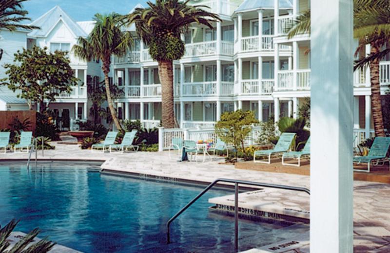 Outdoor pool at Hyatt's Sunset Harbor Resort.