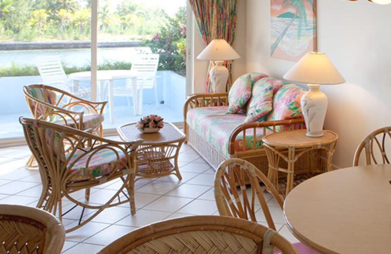 Guest room at Treasure Cay Resort and Marina.