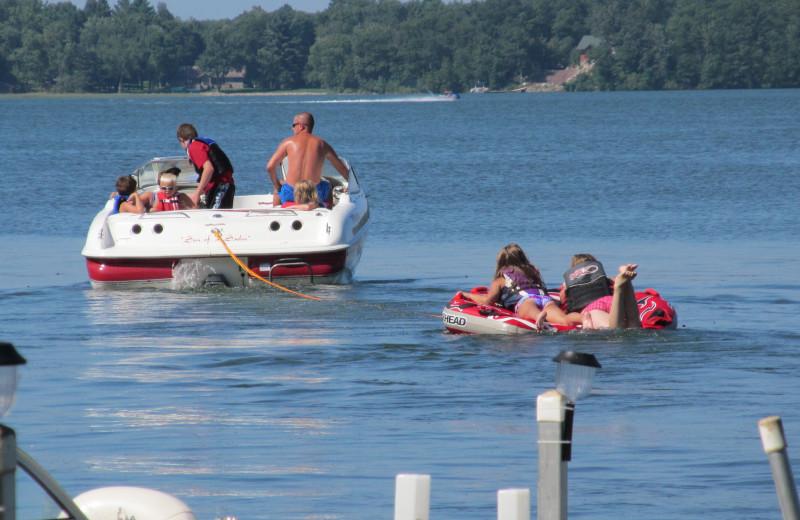 Lake activities at SweetWater Resort.