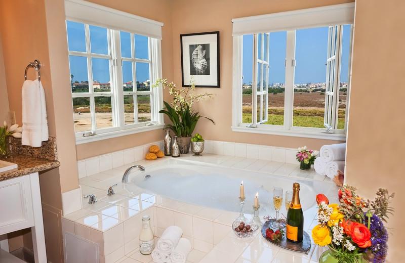 Guest bathroom at Inn at Playa del Rey.