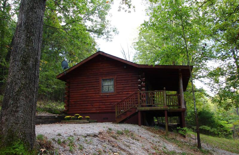 Cabin exterior at Ozark Cabins.