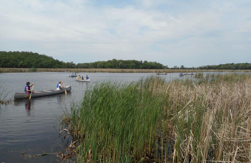 Canoeing near Spicer Green Lake Resort.