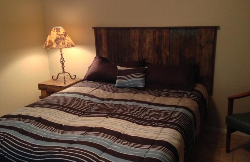 Rental bedroom at LBJ Schmidt House.