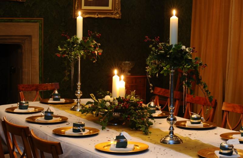 Dining at Stragglethorpe Hall.