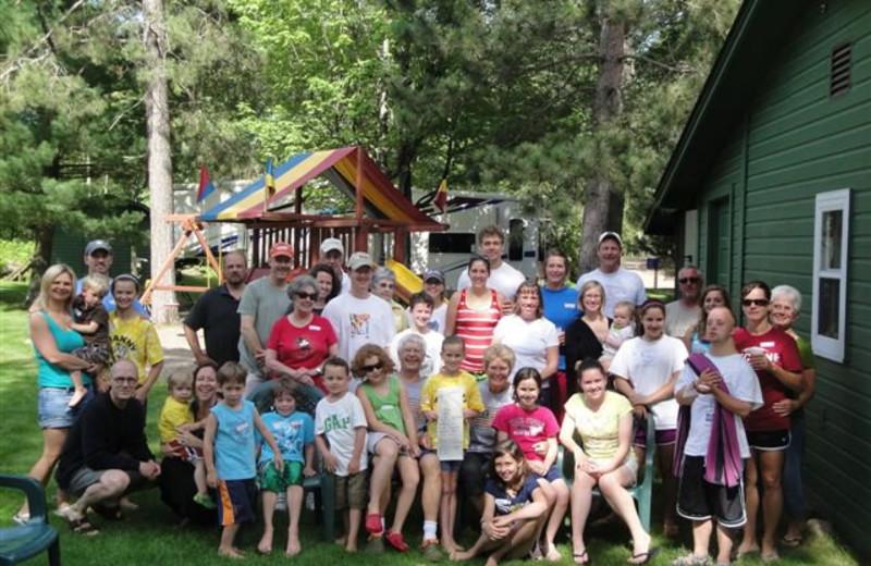 Family reunion at Lykins Pinehurst Resort.