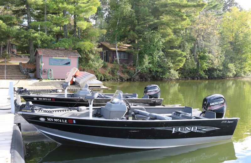 Fishing at Cabin O'Pines Resort