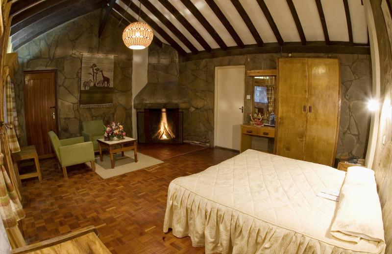 Guest room at Naro Moru River Lodge.