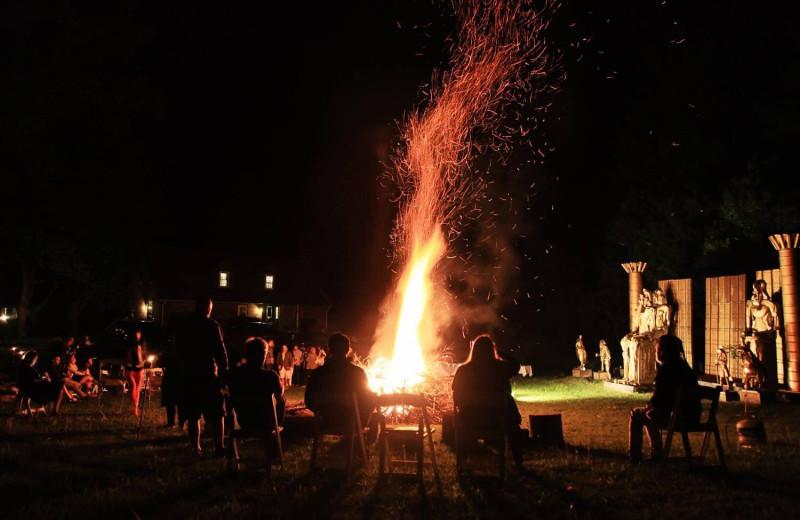 Bonfire at Wilburton Inn.
